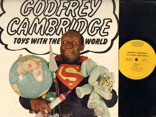 Cambridge, Godfrey - Toys With The World: Tarzan, Topless, Dieting, Negro Astronauts, Maids, Put-Ons, KKK, and other comedy routines (Vinyl MONO LP record, NICE condition!) - NM9/NM9 - LP Records