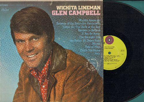 Campbell, Glen - Wichita Lineman: (Sittin' On) The Dock At The Bay, You Better Sit Down Kids, Words, The Straight Life (vinyl STEREO LP record_ - EX8/VG7 - LP Records