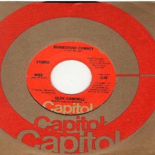 Campbell, Glen - Rhinestone Cowboy/Lovelight - EX8/ - 45 rpm Records