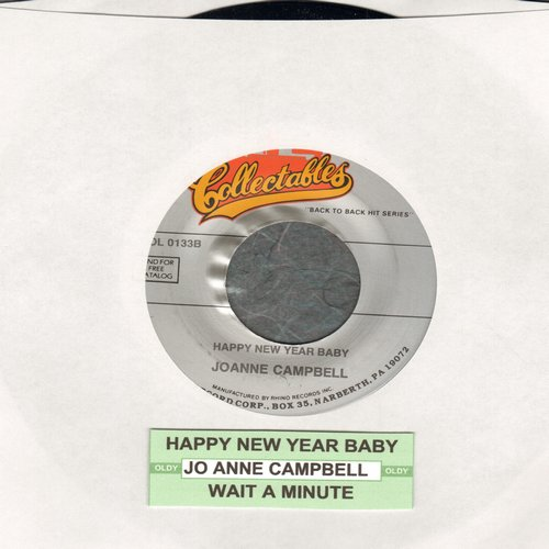 Campbell, Jo Ann - Happy Happy New Year Baby/Wait A Minute (double-hit re-issue with juke box label) - M10/ - 45 rpm Records