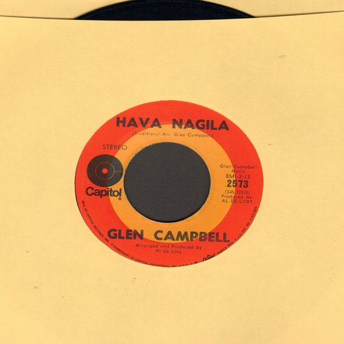 Campbell, Glen - True Grit/Hava Nagila - VG7/ - 45 rpm Records