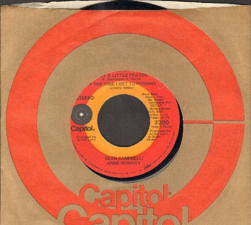 Campbell, Glen & Anne Murray - Medley: I Say A Little Prayer/By The Time I Get To Phoenix/All Through The Night - EX8/ - 45 rpm Records