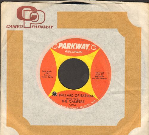 Campers - The Ballad Of Batman/Batmobile (with vintage Parkway company sleeve) (bb) - VG7/ - 45 rpm Records