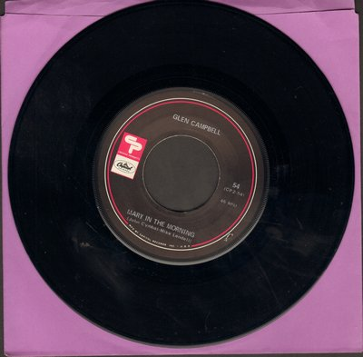 Campbell, Glen - Mary In The Morning/Homeward Bound/(Sittin' On) The Dock Of The Bay (Vinyl EP record) - EX8/ - 45 rpm Records