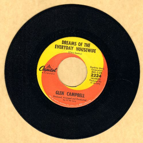 Campbell, Glen - Dream Of The Everyday Housewife/Kelli Hoedown - VG7/ - 45 rpm Records