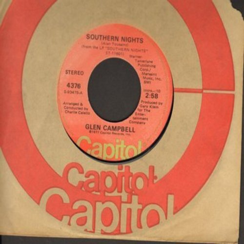 Campbell, Glen - Southern Nights/William Tell Overture (with Capitol company sleeve) (minor wol) - EX8/ - 45 rpm Records