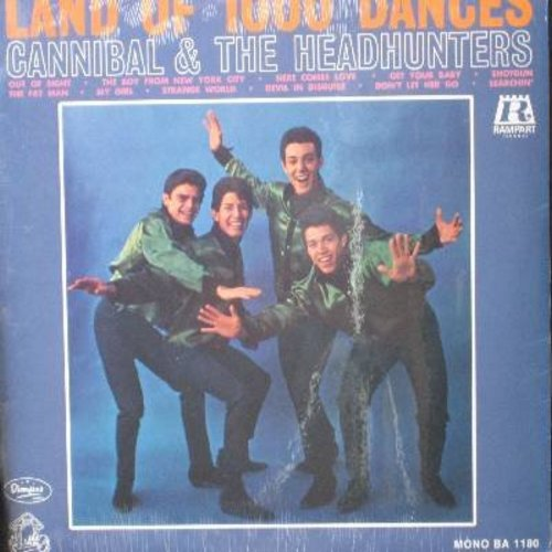 Cannibal & The Headhunters - Land Of 1,000 Dances: My Girl, Devil In Disguise, Searchin', Tiger, Out Of Sight, Shotgun, The Fat Man, Here Comes Love (Vinyl MONO LP record, 2002 issue of vintage 1965 recordings, SEALED, never opened!) - SEALED/SEALED - LP