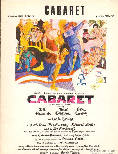 Cabaret - Cabaret - SHEET Music for the Title Song from the Broadway Hit -Cabaret- - EX8/ - Sheet Music