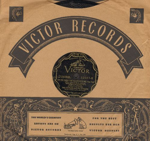 Goldkette, Jean & His Orchestra, Vocals by Frank Munn - Tip-Toe Thru' The Tulips With Me/Painting The Clouds With Sunshine (10 inch 78 rpm record with company sleeve) - EX8/ - 78 rpm