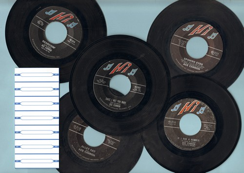 Cannon, Ace - Ace Cannon 5-Pack: First pressing include hits Alley Cat, If I Had A Hammer, Spanish Eyes, Since I Met You Baby and Searchin'. With 7 blank juke box label. - NM9/ - 45 rpm Records