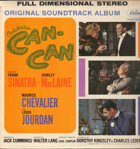 Can-Can - Can-Can - Original Motion Picture Sound Track featuring songs by Frank Sinatra, Shirley Mac Laine and Maurice Chevalier (Vinyl STEREO LP record, rainbow-circle label) - NM9/EX8 - LP Records