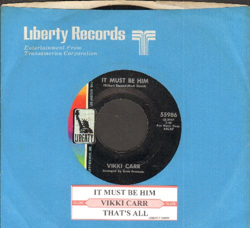 Carr, Vikki - It Must Be Him/That's All (MINT condition with juke box label and company sleeve) - M10/ - 45 rpm Records
