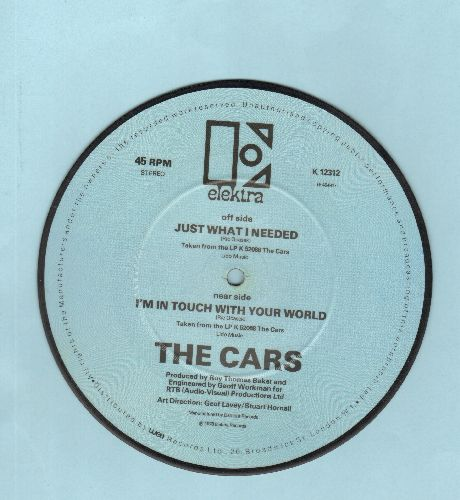 Cars - Just What I Needed/I'm In Touch With Your World (RARE British Pressing Picture Disc 45, small spindle hole) - NM9/ - 45 rpm Records