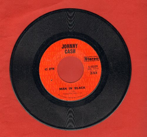Cash, Johnny - Man In Black/Little Bit Of Yesterday (bb) - NM9/ - 45 rpm Records