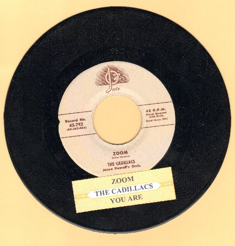 Cadillacs - Zoom/You Are (authentic-looking re-issue of vintage Doo-Wop classic with juke box label) - NM9/ - 45 rpm Records