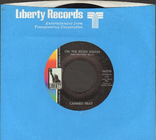 Canned Heat - On The Road Again/Boogie Music (with Liberty company sleeve) - VG7/ - 45 rpm Records