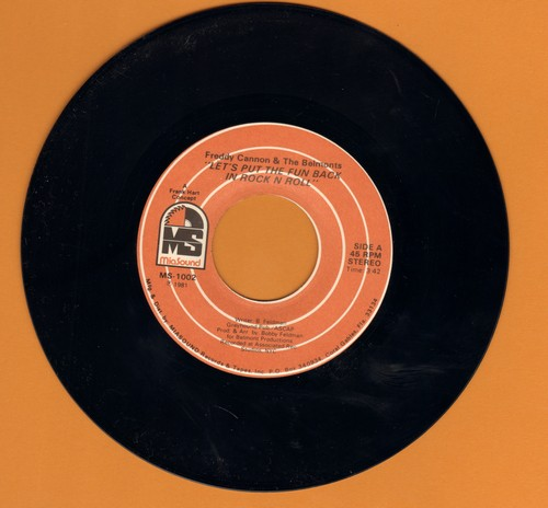 Cannon, Freddy & The Belmonts - Let's Put The Fun Back In Rock N Roll/Your Mama Ain't Always Right - VG7/ - 45 rpm Records