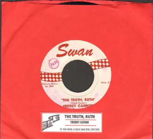 Cannon, Freddy - The Truth, Ruth/If You Were A Rock And Roll Record (with juke box label) - NM9/ - 45 rpm Records
