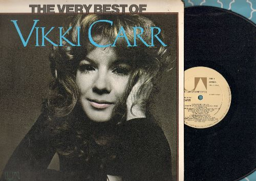 Carr, Vikki - The Very Best Of: It Must Be Him, Can't Take My Eyes Off You, With Pen In Hand, For Once In My Life (vinyl STEREO LP record) - NM9/EX8 - LP Records