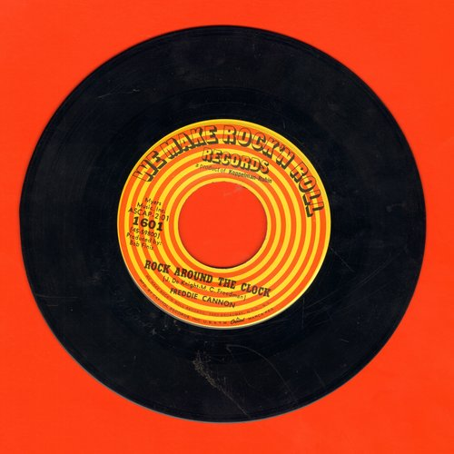 Cannon, Freddy - Rock Around The Clock (GREAT version of the Bill Haley Classic!)/Sock It To Me Judge - VG6/ - 45 rpm Records