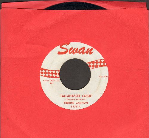 Cannon, Freddy - Tallahassee Lassie/You Know (with juke box label) (wol) - EX8/ - 45 rpm Records