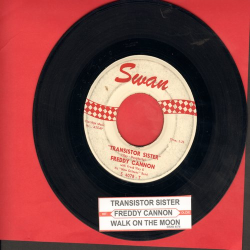 Cannon, Freddy - Transistor Sister/Walk To The Moon - VG7/ - 45 rpm Records