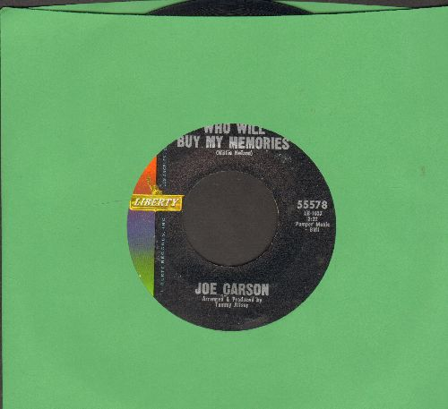 Carson, Joe - I Gotta Get Drunk/Who Will Buy My Memories - NM9/ - 45 rpm Records