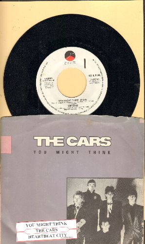 Cars - You Might Think/Heartbeat City (with picture sleeve and juke box label) - NM9/EX8 - 45 rpm Records