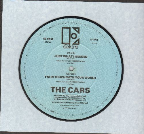 Cars - Just What I Needed/I'm In Touch With Your World (7 inch 45rpm picture disc, British Pressing, shipped in original thick plastic cover) - NM9/ - 45 rpm Records