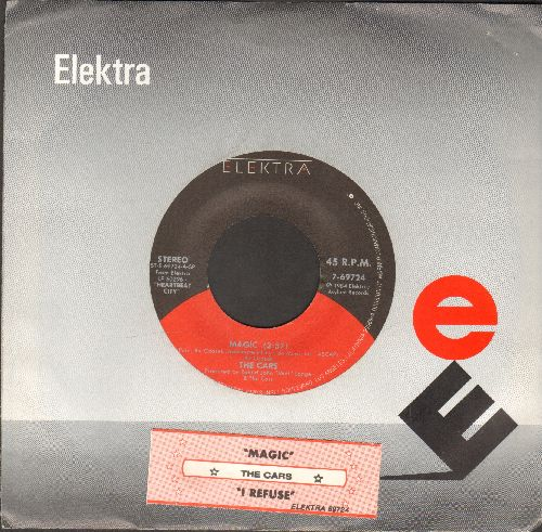 Cars - Magic/I Refuse (with juke box label and Elektra company sleeve) - NM9/ - 45 rpm Records