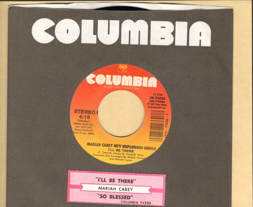 Carey, Mariah - I'll Be There/So Blessed (MINT condition with Columbia company sleeve and juke box label) - M10/ - 45 rpm Records
