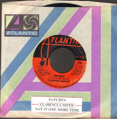 Carter, Clarence - Patches/Say It One More Time (with Atlantic company sleeve and juke box label) - EX8/ - 45 rpm Records