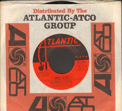 Carter, Clarence - I Smell A Rat/Doin' Our Thing (with Atlantic company sleeve) - NM9/ - 45 rpm Records