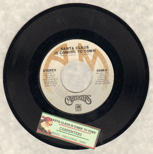Carpenters - Santa Claus Is Coming To Town/Merry Christmas Darling (RARE version of the Capenters Christmas-Favorite with juke box label) - NM9/ - 45 rpm Records