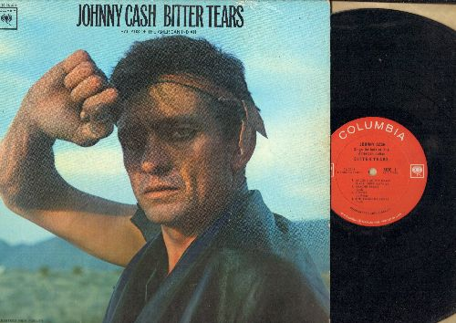 Cash, Johnny - Bitter Tears: Custer, Apache Tears, The Talking Leaves, The Ballad Of Ira Hayes, Drums (vinyl MONO LP record) - VG7/NM9 - LP Records