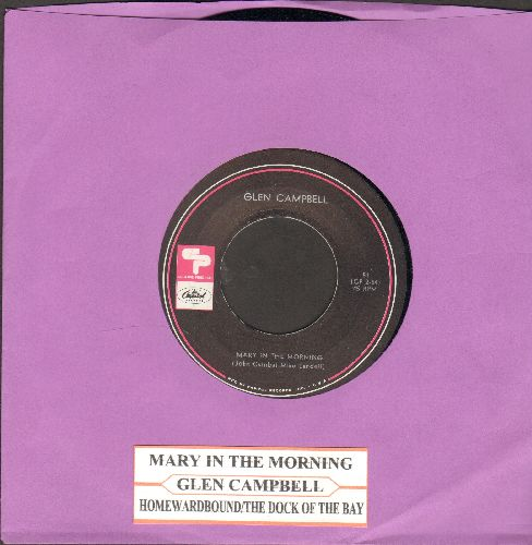 Campbell, Glen - Mary In The Morning/Homeward Bound/(Sittin' On) The Dock Of The Bay (Vinyl EP record)(with juke bx label) - NM9/ - 45 rpm Records