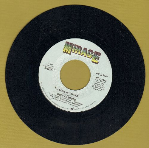 Campbell, Glen - I Love My Truck/Melody's Melody (from film -The Night The Lights Went Out In Georgia-) - NM9/ - 45 rpm Records