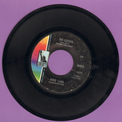 Carr, Vikki - The Lesson/One More Mountain - EX8/ - 45 rpm Records