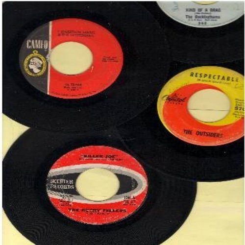 Outsiders, ? & The Mysterians, Buckinghams, Rocky Fellers - 60s Party 4-Pack: Original first issues in very good or better condition: Respectable, Killer Joe, Kind Of A Drag, 96 Tears. Shipped in plain white paper sleeves with 5 blank juke box labels. - V