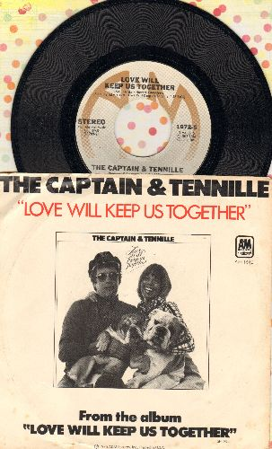 Captain & Tennille - Love Will Keep Us Together/Gentle Stranger (with picture sleeve) - NM9/VG7 - 45 rpm Records