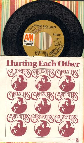 Carpenters - Hurting Each Other/Maybe It's You (with picture sleeve)(wol) - EX8/EX8 - 45 rpm Records