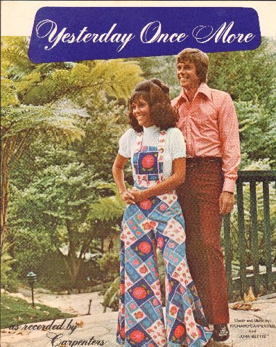 Carpenters - Yesterday Once More - SHEET MUSIC for the Classic Carpenters Ballad (NICE cover art!) - NM9/ - Sheet Music