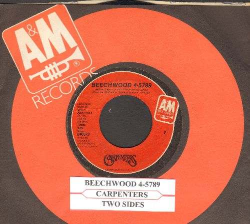 Carpenters - Beechwood 4-5789//Two Sides (with juke box label and company  sleeve) - EX8/ - 45 rpm Records