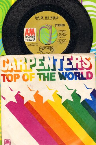 Carpenters - Top Of The World/Heather (with picture sleeve) - NM9/EX8 - 45 rpm Records