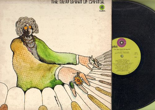Pink Floyd, Bob Seger System, Linda Ronstadt, others - The New Spirit Of Capitol: Astronomy Domine, Boy Soldier, Games People Play, Broke an' Hungry (vinyl STEREO LP record, gate-fold cover) - VG7/VG7 - LP Records