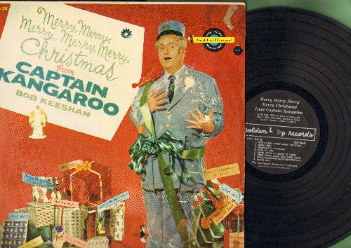 Keeshan, Bob (Captain Kangaroo) - Merry, Merry, Merry, Merry, Merry Christmas From Kaptain Cangaroo - featuring Lumpy Brannum as Mr. Green Jeans (Vinyl MONO LP record, RARE Children's Novelty!) - EX8/VG7 - LP Records