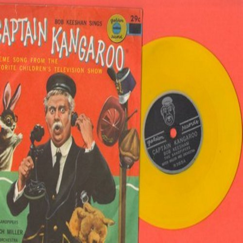 Sandpipers, Mitch Miller & Orchestra - Captain Kangaroo - Theme Song From The Favorite Children's Television Show/Little Kangaroo Dance (RARE vintage 78rpm Little Golden Record with picture sleeve) - EX8/EX8 - 78 rpm