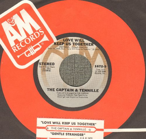 Captain & Tennille - Love Will Keep Us Together/Gentle Stranger (with A&M company sleeve and juke box label) - NM9/ - 45 rpm Records