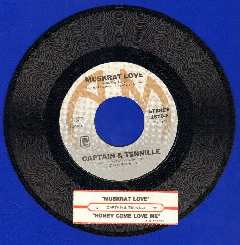 Captain & Tennille - Muskrat Love/Honey Come Love Me (with juke box label) - NM9/ - 45 rpm Records