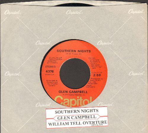 Campbell, Glen - Southern Nights/William Tell Overture (with juke box label and Capitol company sleeve) - NM9/ - 45 rpm Records